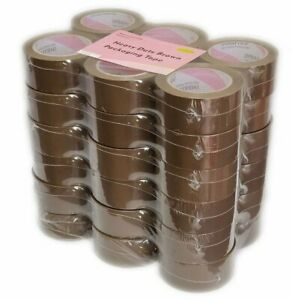 36 Rolls Heavy duty Carton Packing Tape Tan Brown 60 Yards 2 7 Mil 2 Wide
