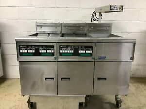 Pitco Se14 Double Fryer With Filtration System And Dump Station Electric 480v
