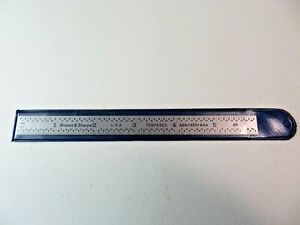 Brown Sharpe 6 Tempered Flex Steel Rule Scale No 599 323 604 Made In Usa 4r
