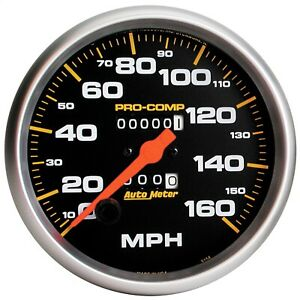 Autometer 5154 Pro Comp Mechanical In Dash Speedometer W Black Dial Face
