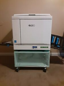 Riso Risograph Sf5450 Digital Duplicator With Black Drum Low Count