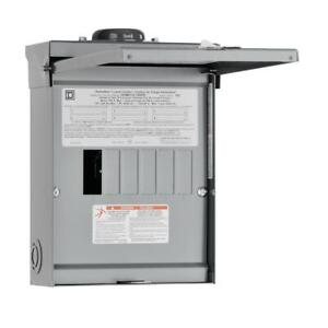 Square D Main Lug Load Center 100 amp 6 space 12 circuit Outdoor