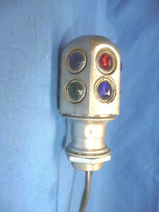 Nos Dash Light Accessory With An Original 1920 s Multi Color Jewel Cover Sct10
