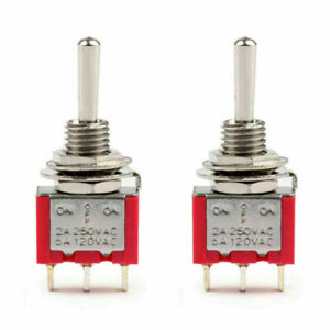 2pc Mts 103 Toggle Switch 3 Pin 3 Position on off on 5a 125vac 2a 250vac Ca