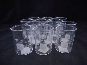 Pyrex Glass 100ml Low Form Griffin Beaker Clear Non graduated 1000 100 12 pack