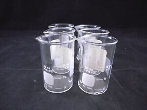 Pyrex Glass 30ml Low Form Griffin Beaker Clear Non graduated 1000 30 6 pack