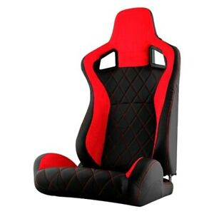 Xtune Scs Series Passenger Side Racing Seat Red W Black Suede