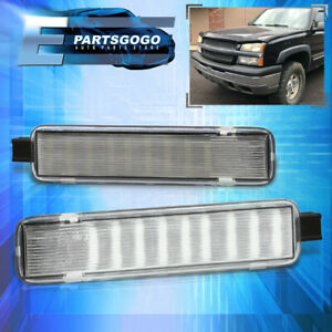 For 03 07 Chevy Silverado Suburban Tahoe Smd Led Door Courtesy Light Lamp Clear