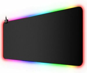 Large Gaming Mouse Pad Extended Rgb Led Computer Keyboard Desk Mat Non slip Soft