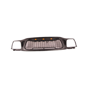 For 2001 2004 Toyota Tacoma Grille Front Bumper Honeycomb Grille W 3led Lights