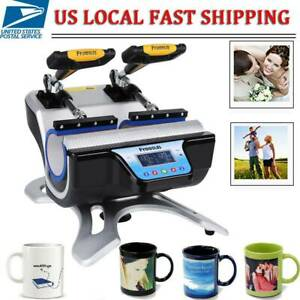 5 In 1 Mug Heat Press Machine Double Station Cup Transfer Print With Heat Pad