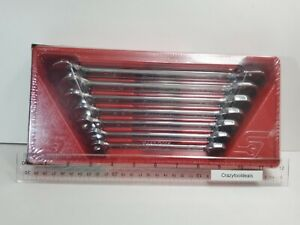 Snap On Tools New 7pc Non Reversible Ratcheting Combo Box End Wrench Set Oxr707
