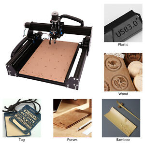 Cnc Engraving Machine 3 Axis Woodworking Engraver Diy Carving Working Table 110v