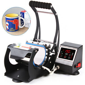 Heat Press Machine Diy Cup Transfer Imprinting Device Touch Screen Control 110v