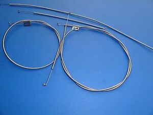 1957 57 Chevrolet Bel Air 210 150 Heater Control Cables Set Of 4 Stainless New