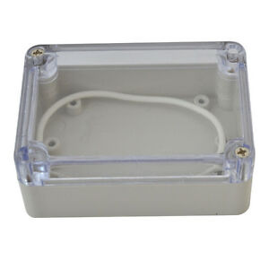 100 68 50mm Clear Plastic Electronics Project Box Enclosure Case With Screw Us
