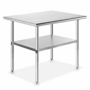Gridmann Nsf Stainless Steel Commercial Kitchen Prep Work Table 36 In X
