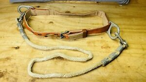Vintage Klein Tools 5442 X large Linemans Belt With Safety Rope Date 2 1990