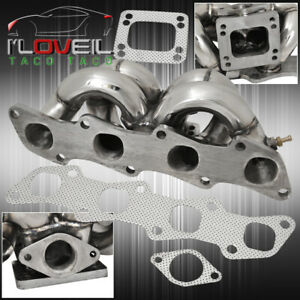 T3 T4 Top Mount Turbo Exhaust Manifold Header For 1989 1998 Nissan 240sx S13 S14