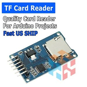Micro Sd Tf Memory Card Reader Module With Spi Interface For Arduino Us Stock