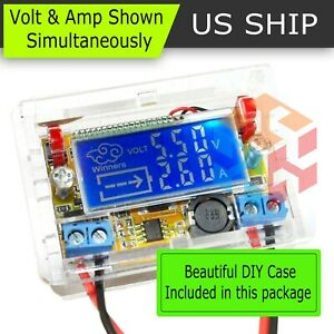 Dc dc Adjustable Step down Power Supply Module Voltage Current Lcd Display Shell