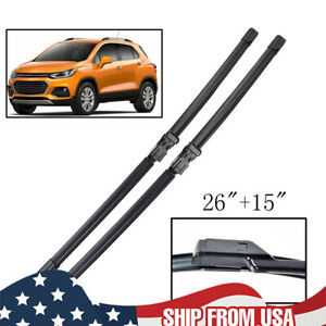 Front Windshield Wiper Blades For Chevrolet Trax 12 19 Rubber Wipers Set 26 15in