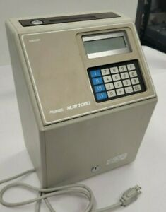 Amano Microder Mjr7000 Time Recorder Clock Powers On Unable To Fully Test