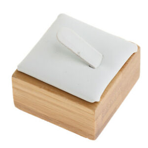 Solid Wooden Ring Jewelry Display Stand Holder Single Ring Exhibition White