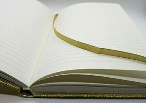 Nwt Genuine Martha Stewart Womens Notebook Classy Gold Journal Lined Ivory Pages
