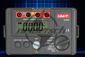 Uni t Ut522 4000 Digital Earth Ground Resistance Tester Earth Voltage Device