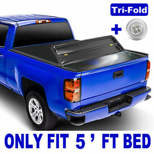 5ft Bed Tri Fold Tonneau Cover For 20 Jeep Gladiator Jt Witho Utility Track System