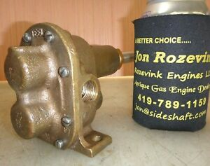 Teel Brass Body Gear Pump For Hit And Miss Old Gas Engine 1 2 Pipe Very Nice