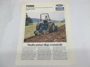 Ford New Holland Model 110 Economy Plow For Compact Diesel Tractors Brochure