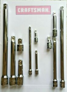 Craftsman Hand Tools 11 Pc 1 4 3 8 1 2 Ratchet Wrench Socket Extension Set