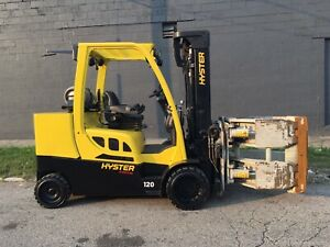 2015 Hyster 12000 Lb Forklift With Cascade 77f Paper Roll Clamp