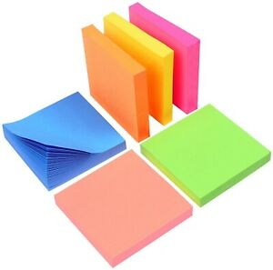 3m Post it Super Sticky Notes 3 X 3 Assorted Bright Colors 100 Sheets pad X3
