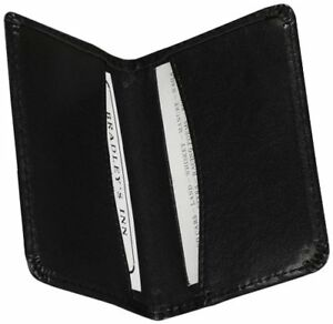 Samsill Carrying Case wallet For Business Card Black Leather sam81220