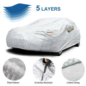 Full Car Cover All Weather Sun Rain Uv Protector Peva With Cotton Sedan Up To 190 Fits 2012 Camaro