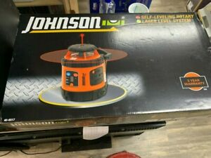 Johnson Self Leveling Rotary Laser Level System New In Box Never Opened