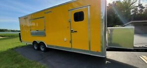New 2020 8x24 Enclosed Mobile Kitchen Concession Food Trailer