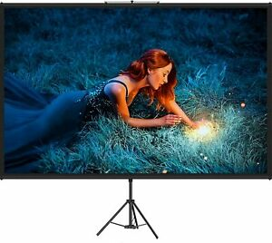 Vevor Projector Screen With Stand 100 Inch 16 9 Hd 4k Outdoor Indoor Projection