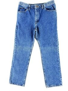 Lee 38x32 Blue Jeans Classic Heavy Denim Work Stone Wash Vintage Style 90s Faded $21.79