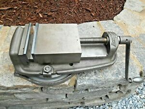 6 Bridgeport Milling Vise With Swivel Base And New Jaws Pads