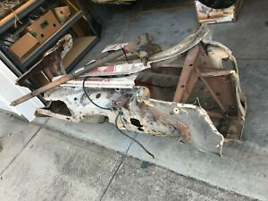 Remains 1962 Corvette Damaged Firewall Steering Column W Factory Tag Paper