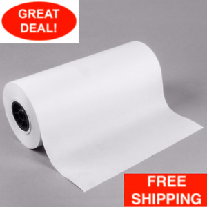 White Freezer Paper Roll Frozen Food Fish Meat Wrap Microwavable 18 X 1000 Feet