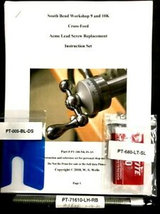 South Bend 9 10k 7 16 10 Lh 4 g Acme Crossfeed Screw Kit With Instructions Set