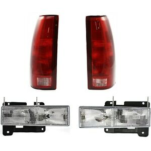 15034930 15034929 5977868 5977867 New Set Of 4 Auto Light Kits For Chevy