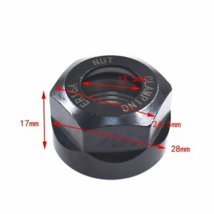 Tool Collet Clamping Nut Accessory Black Er16 For Cnc Milling Chuck Holder