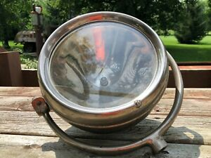 Early Vintage Dietz Usa Spot Search Light Glass Lens Car Fire Truck Old