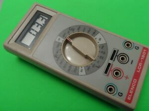 Mint Condition Barely Used Elenco Lcr 1801 L c r Meter Taiwan Tested W battery